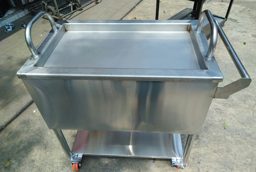 Caja china en acero inoxidable